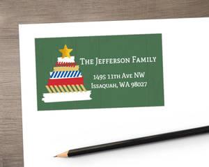 Washi Tape Tree Holiday Address Label