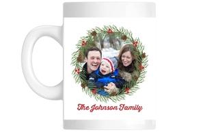 Family Christmas Wreath Mug