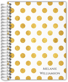 Classic Golden Polka Dot Mom Planner