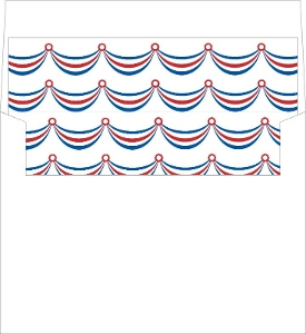 4Th Of July Ribbon Envelope Liner