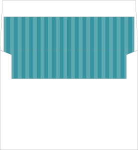 Teal Blue Stripes Envelope Liner