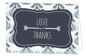 Something Blue Wedding Thank You Card - 7778