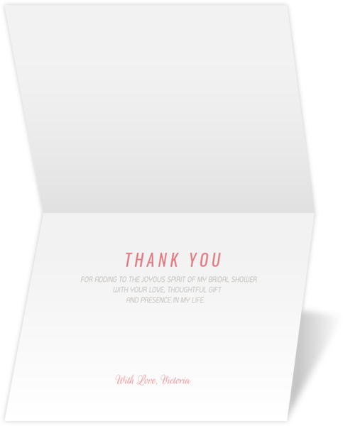 cute confetti bridal shower thank you card