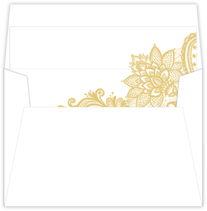 Elegant Gold Lace Envelope Liner