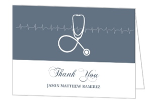 Grey Stethoscope Nursing School Graduation Thank You