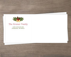 Beautiful Gingham Red Holiday Envelope