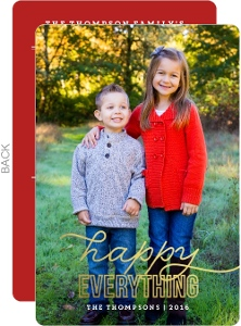 Happy Everything Gold Foil Holiday Review Photo Card