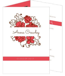 Brown and Rose Graduation Announcement