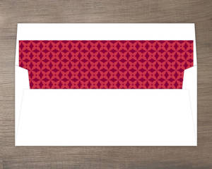 Snowflakes Red Patterned Background Liner