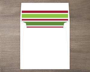 Classic Red and Green Holiday Stripe Liner