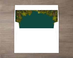 Merry Christmas Pine Tree Liner