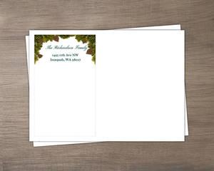 Pine Tree Christmas Envelope