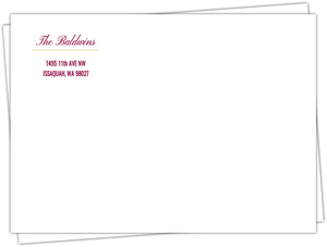 Merry and Bright Red Christmas Envelope