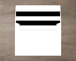 Modern Black and White Striped Liner