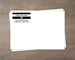 Modern Typography Envelope