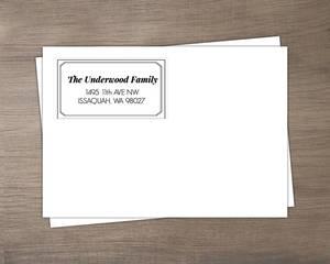 Simple Modern Double Frame Envelope