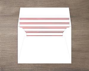 Red Foil Double Lined Envelope Liner