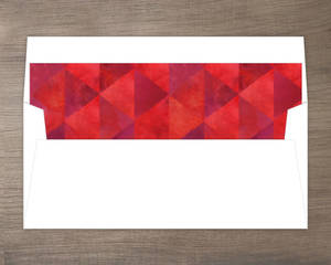 Red Geometric Watercolor Pattern Liner