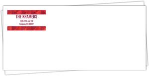 Red Geometric Watercolor Envelope
