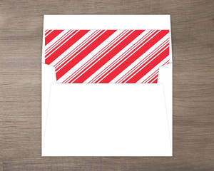 Candy Cane Stripe Envelope Liner