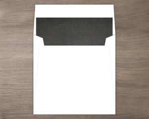 Black and Gold Polka Dot Envelope Liner