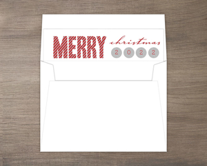 Sparkle and Shine Merry Christmas Red Envelope Liner