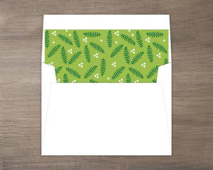 Pine Leaves Envelope Liner