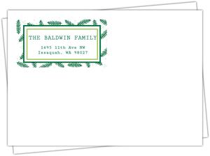 Pine Leaves Merry Christmas Envelope