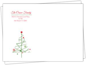 Simple Festive Tree Christmas Envelope