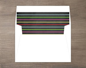 merry and bright colorful striped liner