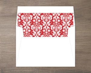 Red Flourish Holiday Liner