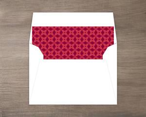 New Home Red Pattern Envelope Liner