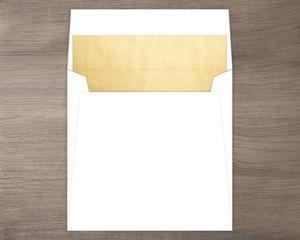 Faux Gold Foil Liner