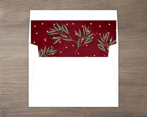 Berry Branches Holiday Liner
