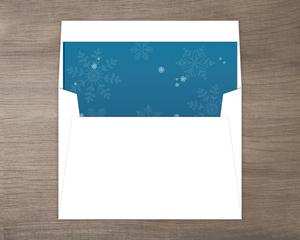 Blue Lagoon Snowflake Envelope Liner