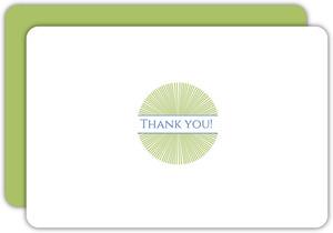 Green Starburst Thank You Card