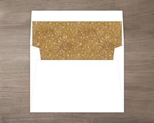 Simple Faux Gold Glitter Envelope Liner