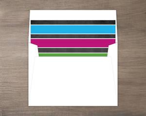 Bold Colorful Stripes Liner