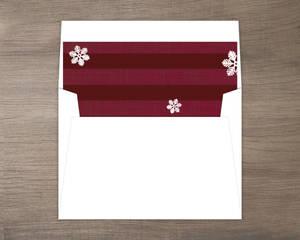Red Burgundy Striped Envelope Liner