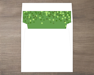 Classic Green Faux Foil Envelope Liner