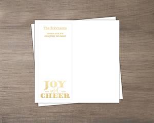 Faux Foil Joy and Cheer Envelope