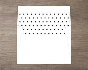 Black and White Polka Dot Liner