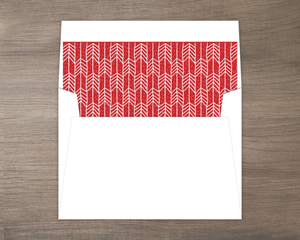 Arrow Pattern Red Holiday Liner