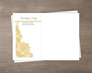 Yellow Floral Lace Envelope