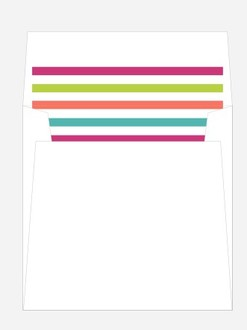 Retro Stripes Envelope Liner
