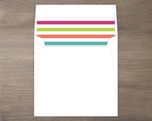 Retro Stripes Envelope Liner