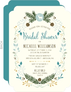 Whimsical Woodland Bridal Shower Invitation