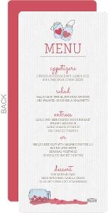 Romantic And Rustic Love Jar Wedding Menu Card