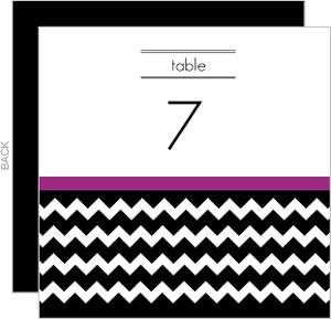 Modern Chevron Wedding Table Card