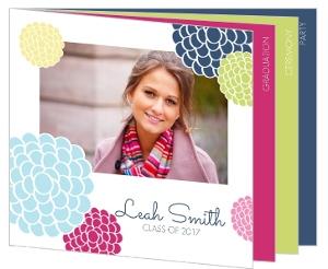 Multi Color Floral Graduation Invitation